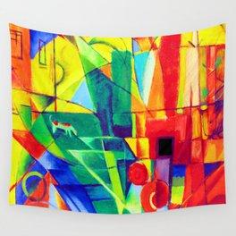 Franz Marc Cubist Landscape Wall Tapestry