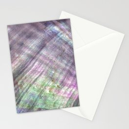 Mother of pearl in a sea shell Stationery Cards