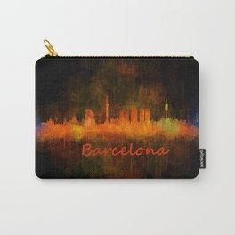 Barcelona City Skyline Hq _v4 Carry-All Pouch