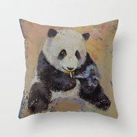 cigarette Throw Pillows featuring Cigarette Break by Michael Creese