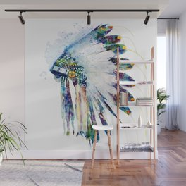 Indian Colorful Headdress Wall Mural