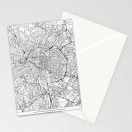Lyon Map White Stationery Cards