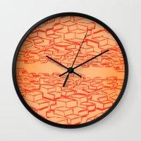 cars Wall Clocks featuring Cars by David King