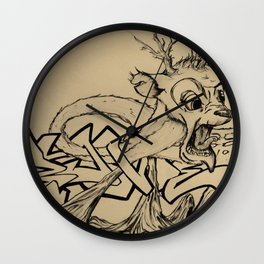 Brittle Bambi Wall Clock
