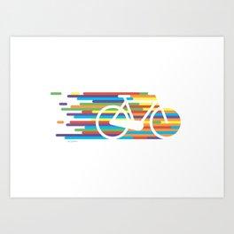 Colorful bicycle 1 Art Print