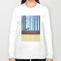 woods Long Sleeve T-shirts featuring Woods by Kakel