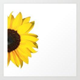 yellow & white summer Art Print