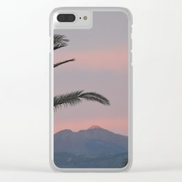Tramonti vulcanici. Clear iPhone Case