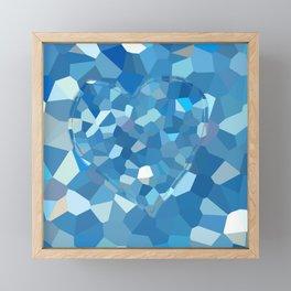 Aqua Heart Framed Mini Art Print