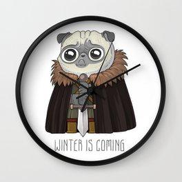 winter Is puging Wall Clock