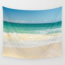beach blue Wall Tapestry