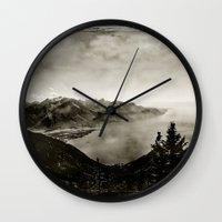 switzerland Wall Clocks featuring Vintage Switzerland by breezy baldwin