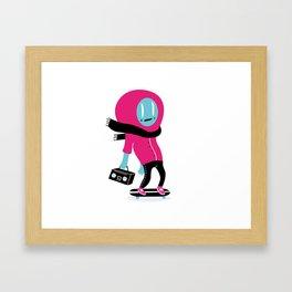 Alien on skateboard Framed Art Print