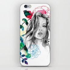 Kristen fashion watercolor portrait iPhone & iPod Skin
