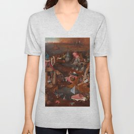 "Hieronymus Bosch ""The Last Judgment"" triptych (Bruges) cental panel Unisex V-Neck"