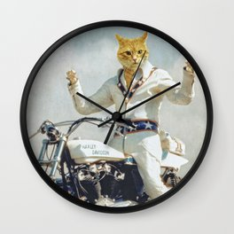 "Evel ""Cat""ievel Wall Clock"