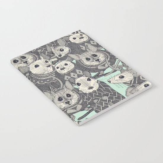 sweater mice mint Notebook