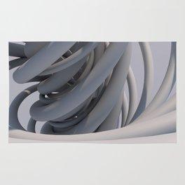 White Spiral Rug