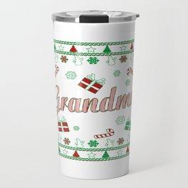 Grandma Christmas Travel Mug