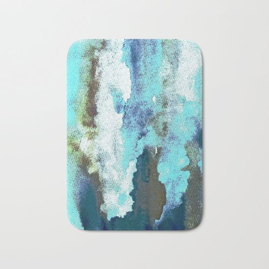 Turquoise And Earth Nebula Bath Mat