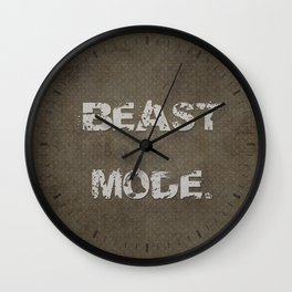 Beast Mode. Wall Clock