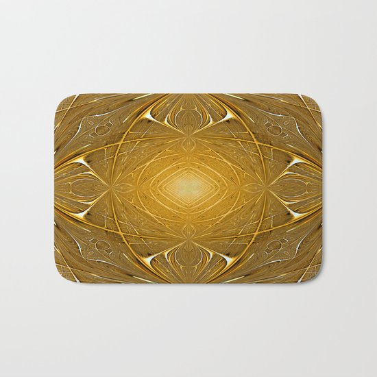 Gold ornament Bath Mat