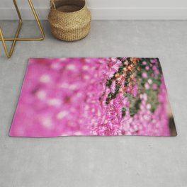 Modern Minimalist Nature Photography Close Up Of Pink Flowers Natural Organic Shapes Art Print Rug