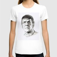 spock T-shirts featuring Spock by Sara (aka Wisney)