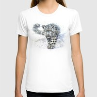 snow leopard T-shirts featuring snow leopard by KOSTART
