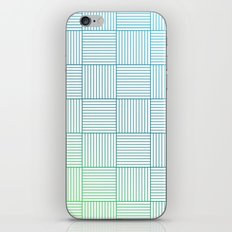 Woven Squares in Blue and Green iPhone & iPod Skin