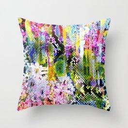 snake flowers Throw Pillow