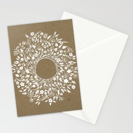 white lace flower frame Stationery Cards
