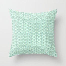 Tri-Star Teal Throw Pillow