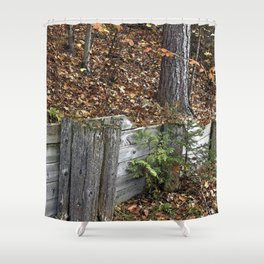 Wood Wall Shower Curtain