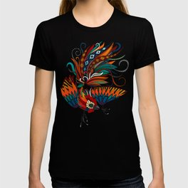 rooster ink turquoise T-shirt