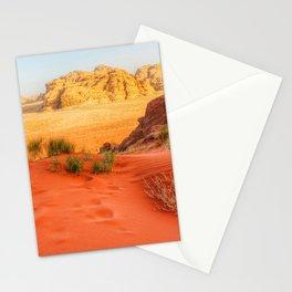 Wadi rum desert in Jordan Stationery Cards