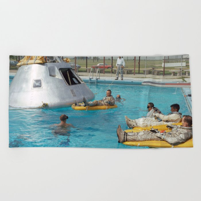 Apollo 1 - Relaxing by the Swimming Pool Beach Towel by ...