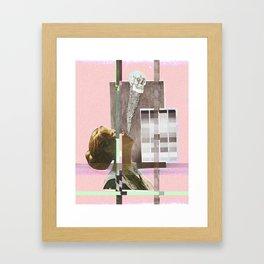 trepanation through static geographic transplantation Framed Art Print