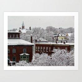 March Snow in Portland, Maine (2) Art Print