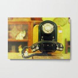 Calling the Operator Metal Print