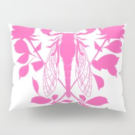 Pink locust of locust Tattoo w roses Pillow Sham