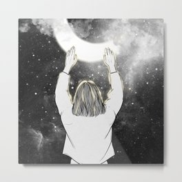 Touching the night. Metal Print