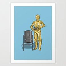 C3PO & Trash Art Print