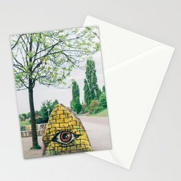 All Seeing Eye in Mauer Park, Berlin, Germany Stationery Cards