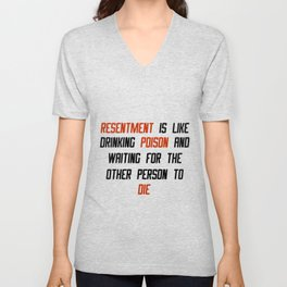 Carrie Fisher Resentment Quote Unisex V-Neck