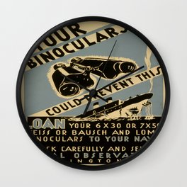 Vintage poster - Your Binoculars Could Prevent This Wall Clock