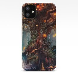 Magnificent Big Marvelous Magic Glowing Fairytale Forest Tree Light Bulbs Dreamland Ultra HD iPhone Case
