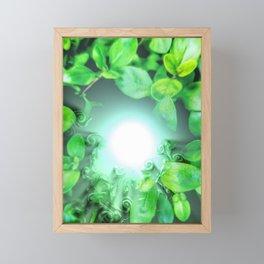 Dissolving nature Framed Mini Art Print