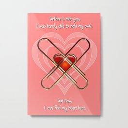 Clip Heart Valentine Metal Print
