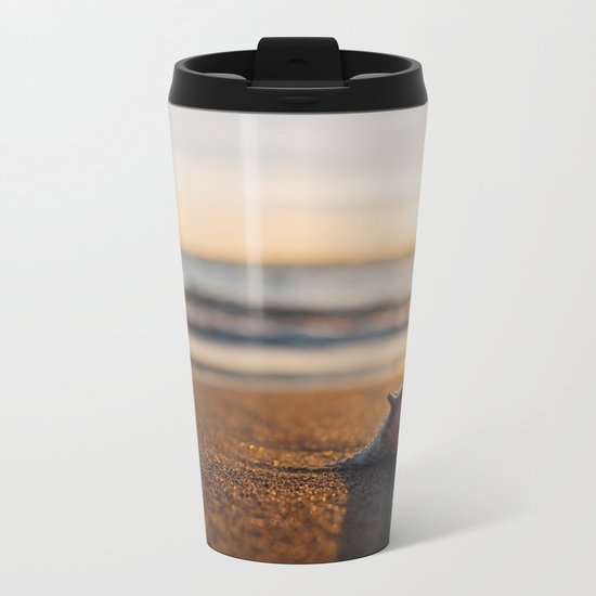 Seashore Seashell Metal Travel Mug